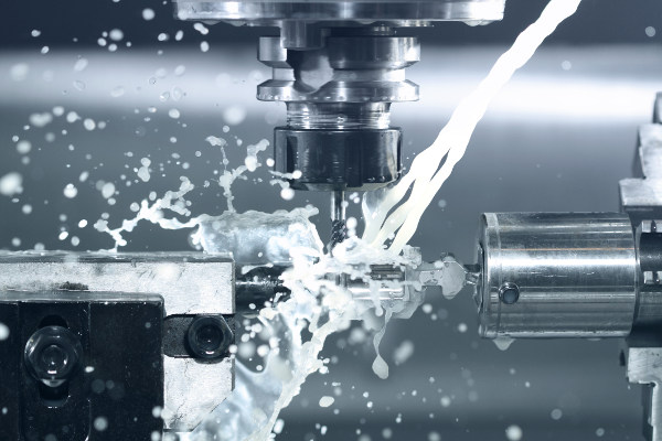 Close up of CNC machine at work